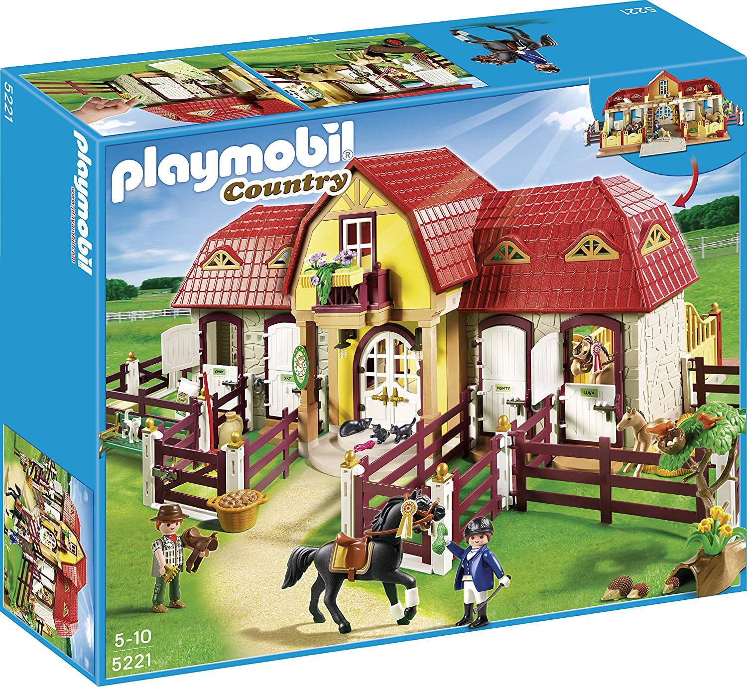 Dejlig Playmobil - Country, Large Horse Farm with Paddock | PlayOne RP-89